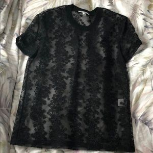 Carven Lace T-shirt Blouse